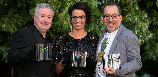 Richard Watts, Claire Edwardes and Barrie Kosky - photo byFiona Hamilton