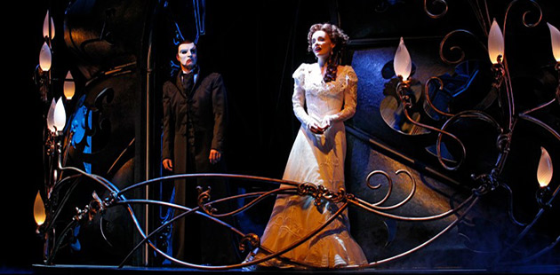 Ben Lewis and Anna O'Byrne in Love Never Dies - photo by Jeff Busby