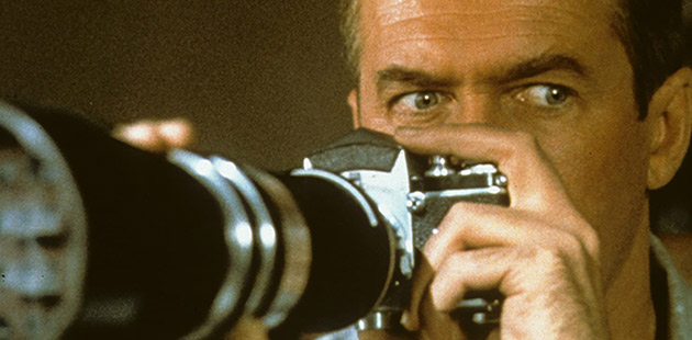 James Stewart in Rear Window (1954) - courtesy of IMDb