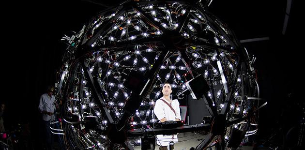 AAR Brenton Spiteri performing in Google's lightstage studio in Los Angeles - courtesy of Opera Queensland
