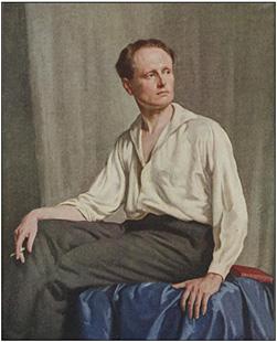 AGNSW Archibald Prize 1923 finalist work by Norman Carter, 1923, Leon Gellert