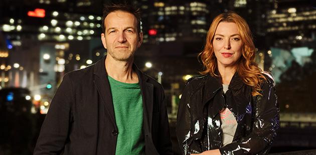 RISING Gideon Obarzanek and Hannah Fox - photo by Jo Duck