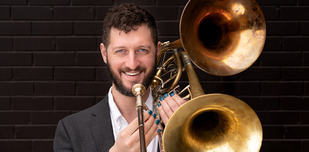 Ben-Anderson-with-Double-Belled-Trombone-photo-Xander-Sanbrook