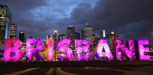 Image: Brisbane Sign, South Bank Parklands, Brisbane