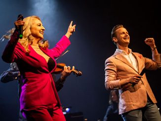 Naomi-Price-and-Luke-Kennedy-in-The-IsoLate-Late-Show-by-Lachie-Douglas