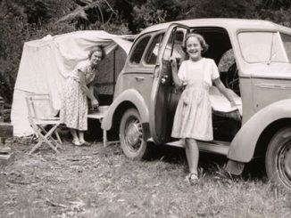 AAR-TC-Family-Camping-at-Phillip-Island-Victoria-1951-Photographer-Leslie-E-Chambers