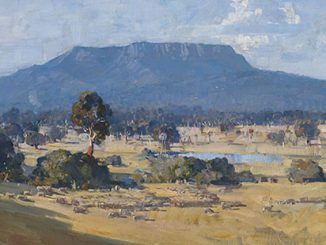 Arthur-Streeton,-Land-of-the-Golden-Fleece, 1926-(detail).-Private-collection,-Sydney
