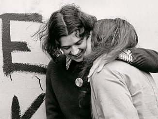 NGV-Ponch-Hawkes-No-title-(Two-women-embracing-Glad-to-be-gay)-1973