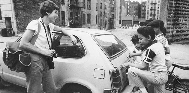 Martha-Cooper-in-Alphabet-City-1978-photo-by-Dan-Brinzac