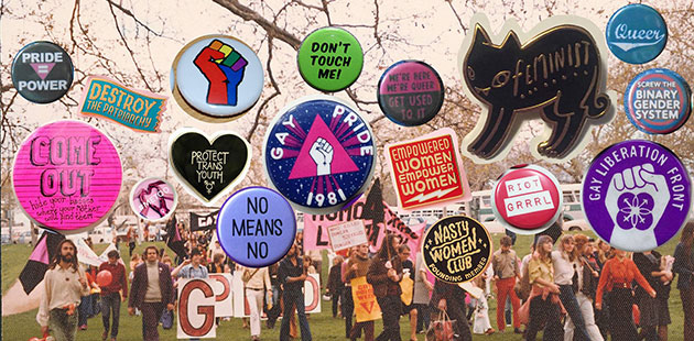 Adelaide-Gay-Pride-Week-September-1973-(Jill-Julius-Matthews-Collection)-with-collaged-badges-Australian-Queer-Archives-(AQuA)