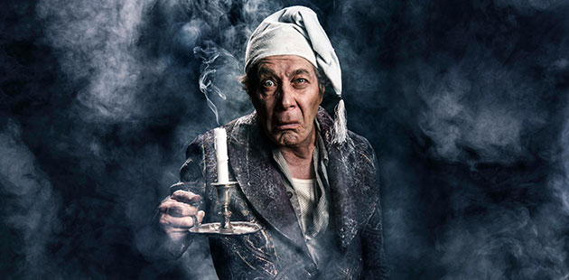 Eugene-Gilfedder-as-Scrooge-in-A-Christmas-Carol-photo-by-Dylan-Evans