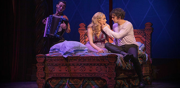 PIPPIN-Danik-Abishev-Lucy-Maunder-and-Ainsley-Melham-photo-by-David-Hooley