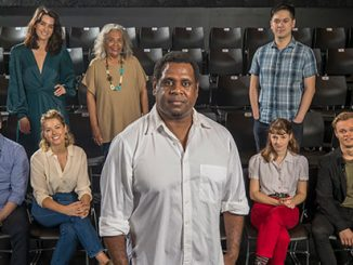 Queensland-Theatre-Our-Town-Hugh-Parker-Libby-Munro-Amy-Lehpamer-Roxanne-McDonald-Jimi-Bani-Lucy-Heathcote-Egan-Sun-Bin-and-Jayden-Popik-photo-by-Pete-Wallis