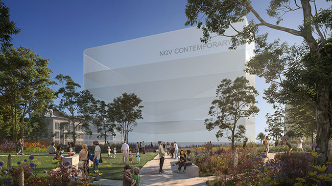 Artist-impression-of-NGV-Contemporary-(gallery-building-to-be-designed)-viewed-from-the-new-public-garden-courtesy-of-HASSELL-+-SO-IL