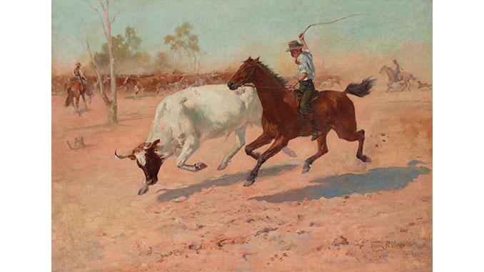 AAR-AGNSW-Rounding-up-a-straggler-1889-Frank-Mahony