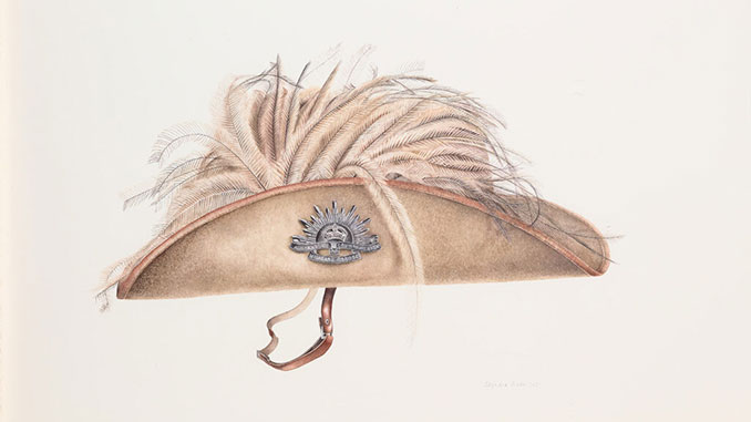 Gallipoli-Art-Prize-Dierdre-Bean-...And-you'll-know-him-by-the-feathers-in-his-hat
