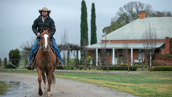 James-Wiltshire-Adam-Wheeler-on-his-horse-Cudgewa-June-2020