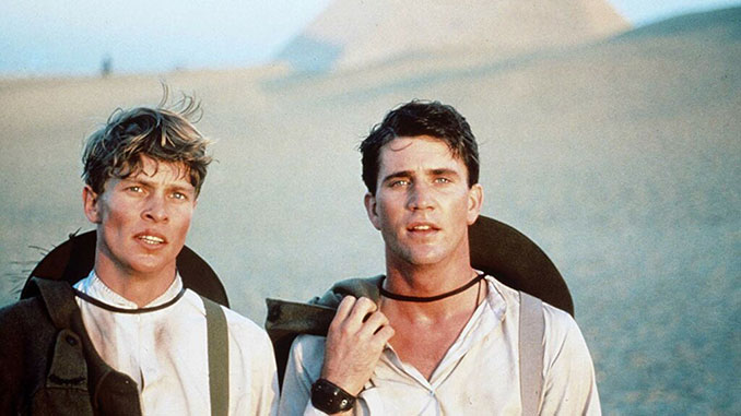 Mark Lee and Mel Gibson in Peter Weir's Gallipoli