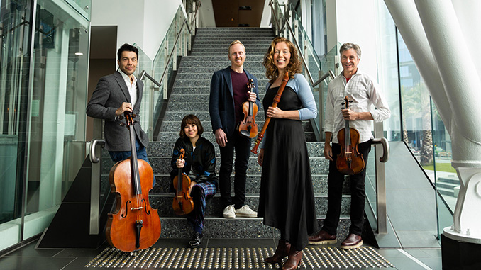 Australian-String-Quartet-with-Genevieve-Lacey-photo-by-Agatha-Yim-Polyphonic-Pictures