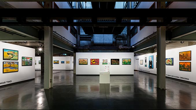 Gina-Sinozich-Installation-View-of-Gina-Casula-Powerhouse-Arts-Centre-photo-by-Chantel-Bann
