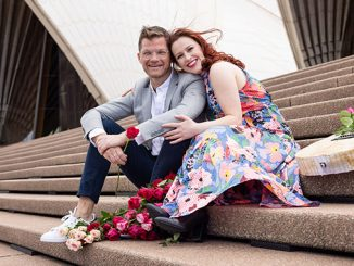Bell Shakespeare The Lovers Shaun Rennie and Laura Murphy photo by Daniel Boud
